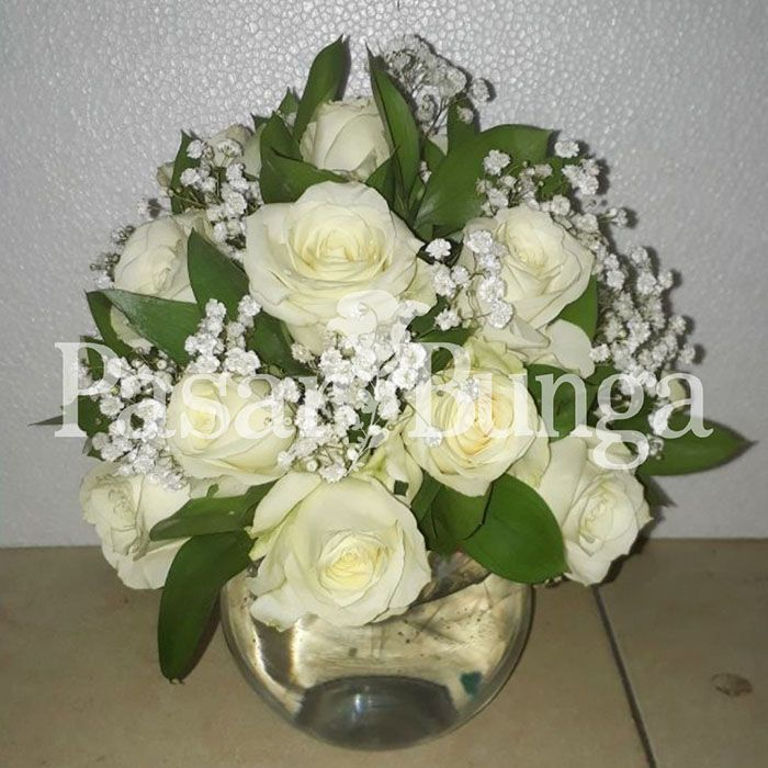 Bunga Meja Fresh Bunga Mawar Putih Pasar Bunga Jakarta