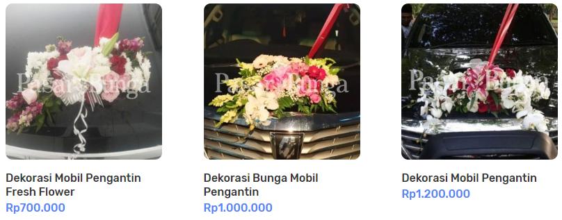 Dekorasi Mobil Pengantin Fresh Flower